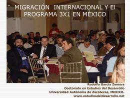 El PROGRAMA 3X1 COMO ECONOMIA SOCIAL …