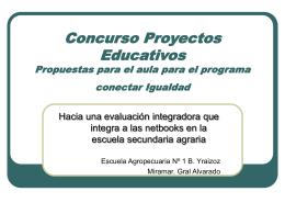 Concurso Proyectos Educativos Propuestas para el aula …