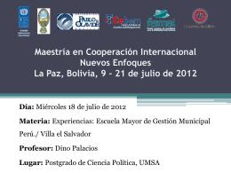Dino Palacios - Programa de Desarrollo Local