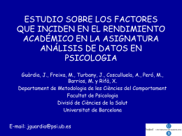 ESTUDIO SOBRE LOS FACTORES QUE INCIDEN EN EL …