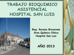 TRABAJO BIOQUIMICO HOSPITALARIO