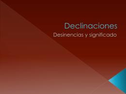 Declinaciones
