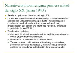 Narrativa latinoamericana primera mitad del siglo XX