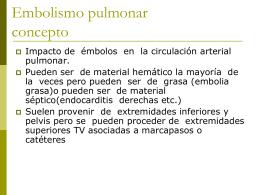 Embolismo pulmonar concepto