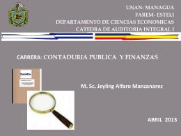 El informe de auditoria - MSc. Jeyling Alfaro Manzanares