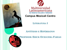 "Literatura ""Antitesis y Hiperbaton."""