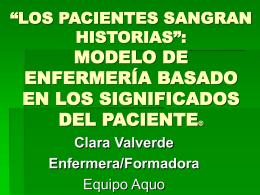 """LOS PACIENTES SANGRAN HISTORIAS"""": MODELO DE …"""