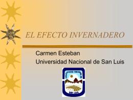 EL EFECTO INVERNADERO - Bibliotecas