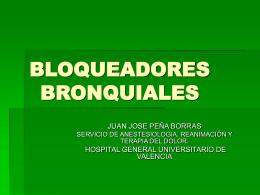 BLOQUEADORES BRONQUIALES