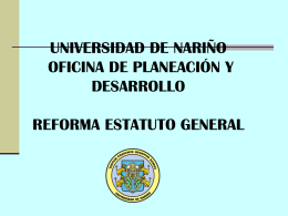REFORMA ESTATUTO GENERAL DE LA UNIVERSIDAD DE …