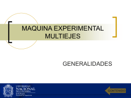 MAQUINA EXPERIMENTAL MULTIEJES