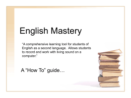 English Mastery - Fullerton College