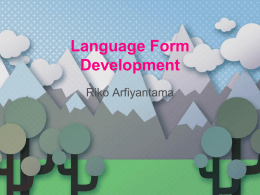 Language Form Development
