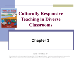Culturally and Linguistically Diverse Learners