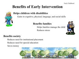 Benefits of Early Intervention