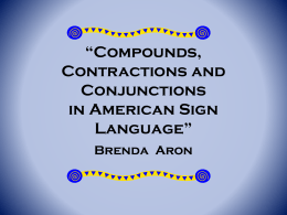 Compounds, Contractions and Conjunctions in American …
