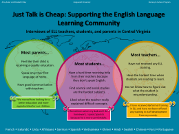 Just Talk is Cheap: Supporting the English Language