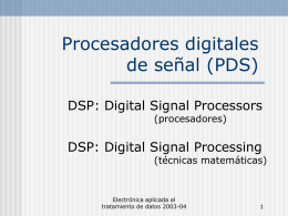 DSP: Digital Signal Processors