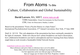 Towards the Sustainable Global Network Society?