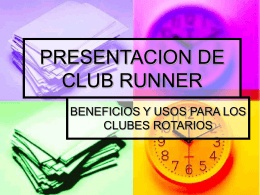 PRESENTACION DE CLUB RUNNER