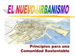 Principios para una Comunidad Sostenible