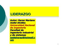 LIDERAZGO - dorganizacional / FrontPage