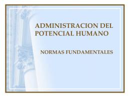 ADMINISTRACION DEL POTENCIAL HUMANO