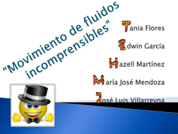 Movimiento de fluidos incomprensibles""