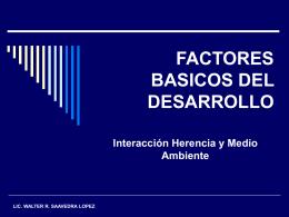 FACTORES BASICOS DEL DESARROLLO