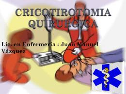 CRICOTIROTOMIA QUIRURGICA