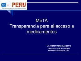 Transparencia para el acceso a medicamentos