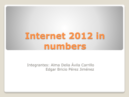 "Internet 2012 in numbers - Octavio Islas | ""Contra el"