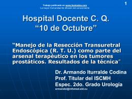 "Hospital Docente C. Q. ""10 de Octubre"""