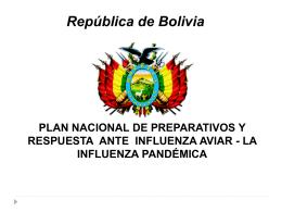 PLAN NACIONAL DE PREPARATIVOS Y RESPUESTA ANTE …