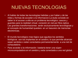 NUEVAS TECNOLOGIAS LAS NUEVAS TECNOLOGIAS IN …