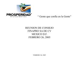 REUNION DE CONSEJO PROSPERIDAD COMPARTIDA A.C. …