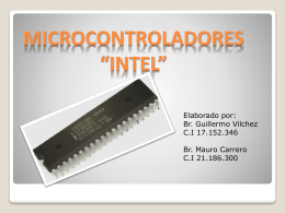 "MICROCONTROLADORES ""INTEL"""