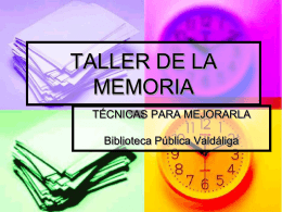 TALLER DE LA MEMORIA