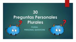 28 Preguntas Personales