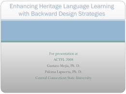 Enhancing Heritage Language Learning with Backward …