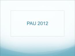 PAU 2012 - El Orienta