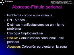 Absceso-Fistula perianal - Cruces University Hospital