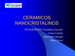 CERAMICOS NANOCRISTALINOS