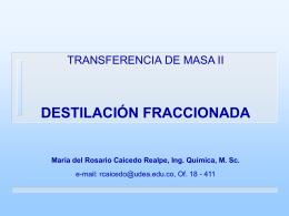 OPERACIONES DE TRANSFERENCIA DE MASA II Prof. …