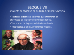 BLOQUE VII ANALIZAS EL PROCESO DE GUERRA DE …