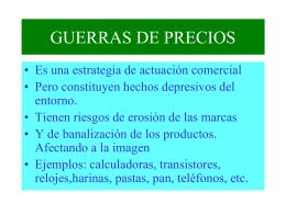 GUERRAS DE PRECIOS