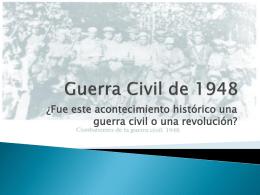 Guerra Civil de 1948