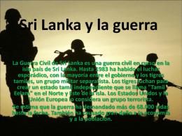 Sri Lanka y la guerra