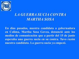 LA GUERRA SUCIA CONTRA MARTHA SOSA