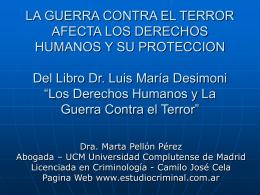 Los derechos humanos y la guerra contra el terror